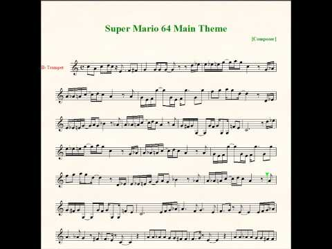 Super Mario 64 Bob-omb Battlefield Theme Sheet Music - Trumpet
