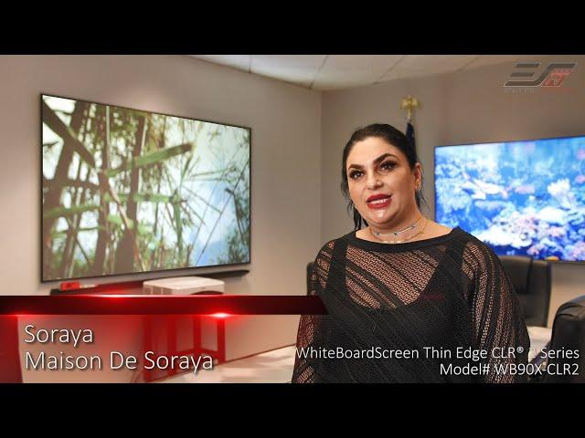 Elite ProAV's WhiteBoardScreen Thin Edge CLR® 2 Testimonial - ALR/CLR® Whiteboard Screen