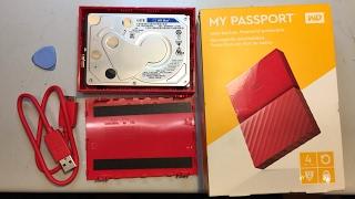 WD My Passport 4TB USB Festplatte Case opening öffnen keine SATA Schnittstelle