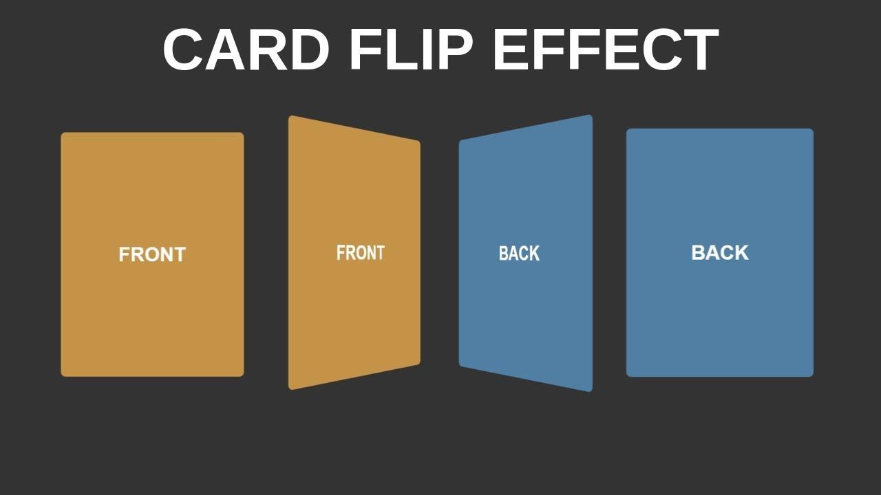 Card Flip Effect (HTML & CSS)