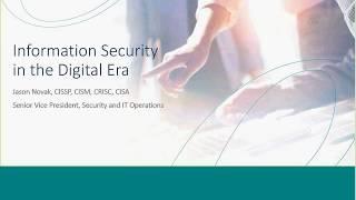 eMoney Webinars: Security 101 - Information Security in the Digital Era