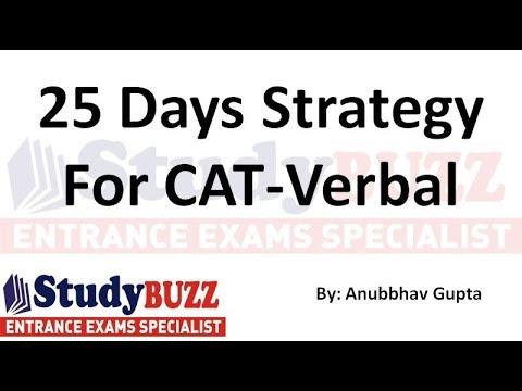 Struggling in Verbal section? 25 days strategy to ace the verbal section