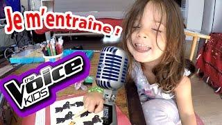 The Voice Kids ! - Amantine s'entraîne comme les stars