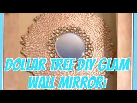Dollar Tree DIY Glam Wall Mirror: DIY Glam Mirror Home Decor Ideas Creating Elegance For Less 2018