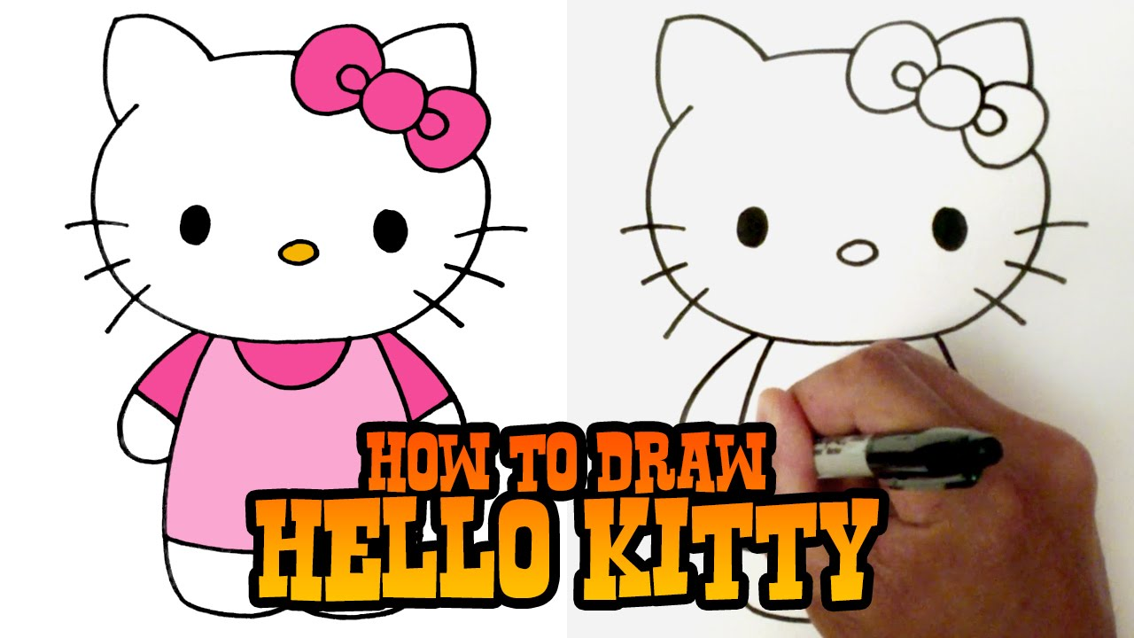 How To Draw Hello Kitty Step By Step Video Youtube