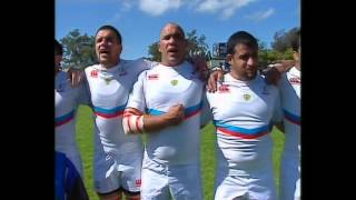 Russian rugby union players butcher their own national anthem in Montevideo 11/10/2014