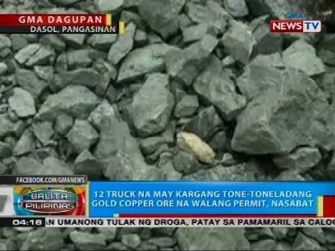 12 truck na may kargang tone-toneladang gold copper ore na walang permit, nasabat