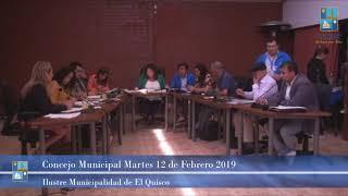 Concejo Municipal Martes 12 Febrero 2019 - El Quisco