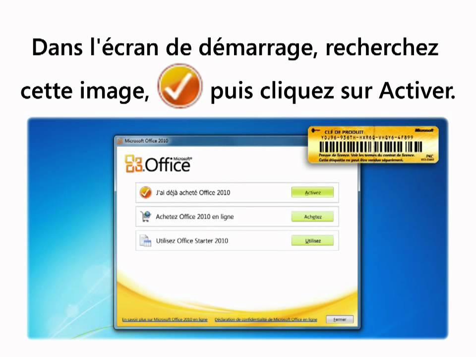 Carte d 39 activation office famille et petite entreprise - Office famille et petite entreprise 2010 ...