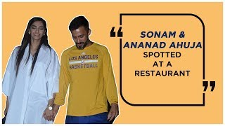 SONAM & ANANAD AHUJA WITH FRIENDS SPOTTED AT RESTAURANT | Appearances