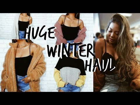 Huge Winter Try-On Clothing Haul 2017 || Shein, Urban Outfitters, PINK, Free People!
