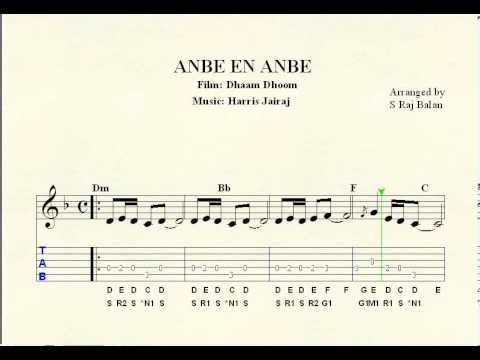 anbe en anbe sheet music notations