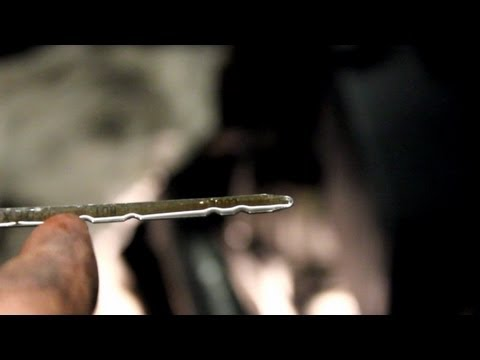 Watch on transmission fluid dipstick reading
