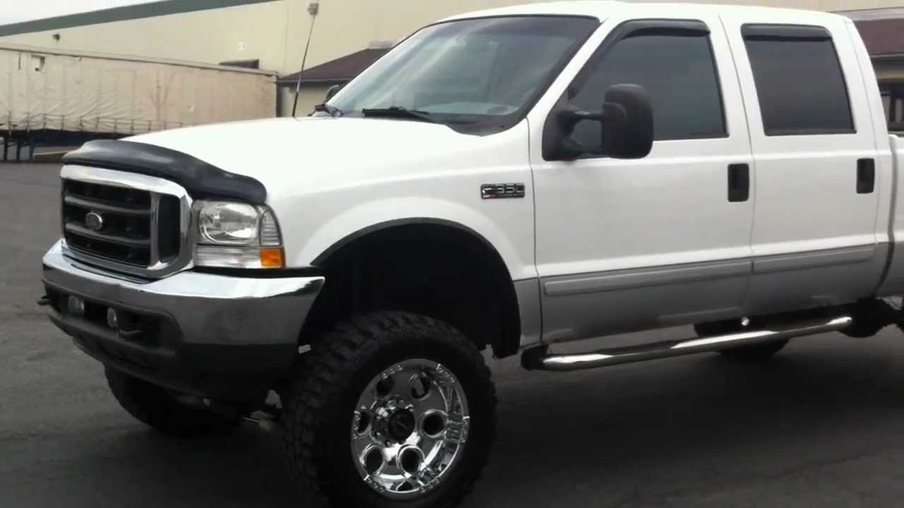 lifted 2002 ford f350 crew 4x4 lariat 7 3 powerstroke turbo diesel youtube. Black Bedroom Furniture Sets. Home Design Ideas