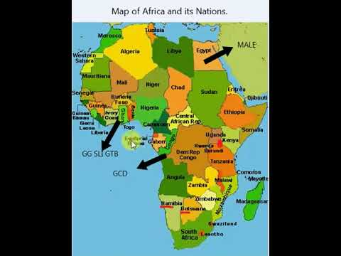 Learn Map of Africa and its nations