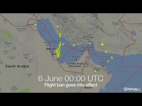Qatar Flights Routes Before and After BAN !!!