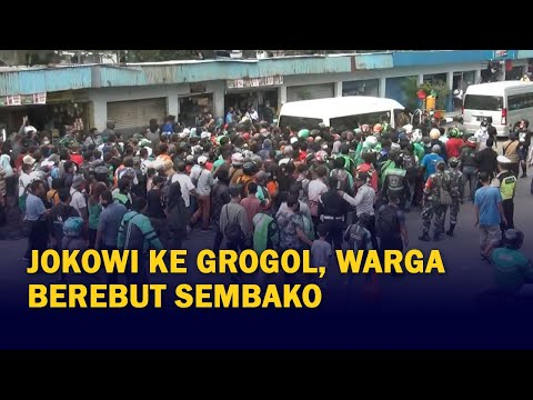 Presiden Jokowi ke Terminal Grogol, Warga Berebut Sembako