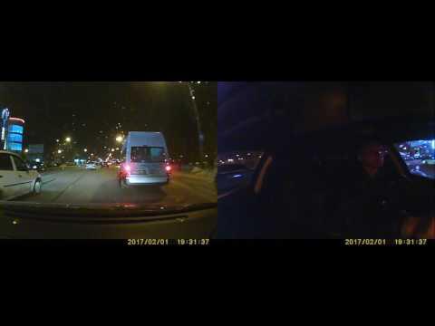 Двухкамерный видеорегистратор Blackview X200 DUAL GPS - ночная съёмка