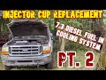 Part 2   7.3 Powerstroke    Diesel Fuel In Coolant (injector Cup Replacement)   Part 2