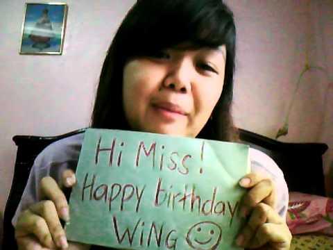 Happy Birthday Wing ( Glenn Wesley Sy Navea)