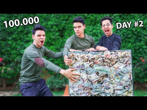اخر واحد يشيل ايده من علي الصندوق ياخده!!100000$
