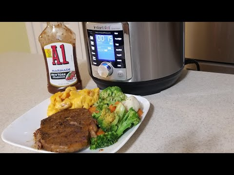 instant-pot-ultra-mini-ribeye-steak-3qt-pressure-cooker-a1-sauce-marinade-well-done-steaks