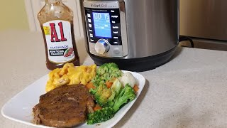 Instant Pot Ultra Mini Ribeye Steak 3qt Pressure cooker A1 Sauce Marinade well done steaks