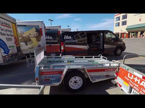 Uhaul Motorcycle Trailer 4x9 review