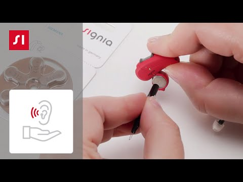 How to exchange the battery of your BTE (Behind-The-Ear) hearing aid   Signia Hearing Aids
