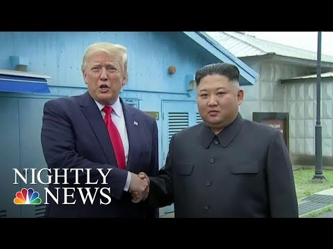Trump Makes History As First Sitting U.S. President To Step Into North Korea | NBC Nightly News