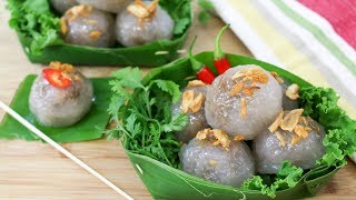 Thai Tapioca Dumplings Saku Sai Moo สาคูไส้หมู - Episode 170
