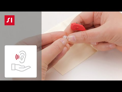 How to clean the receiver of your hearing aid   Signia Hearing Aids
