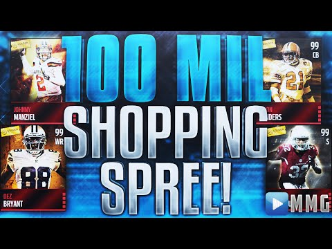 100 MILLION COINS SHOPPING SPREE!? Madden Mobile