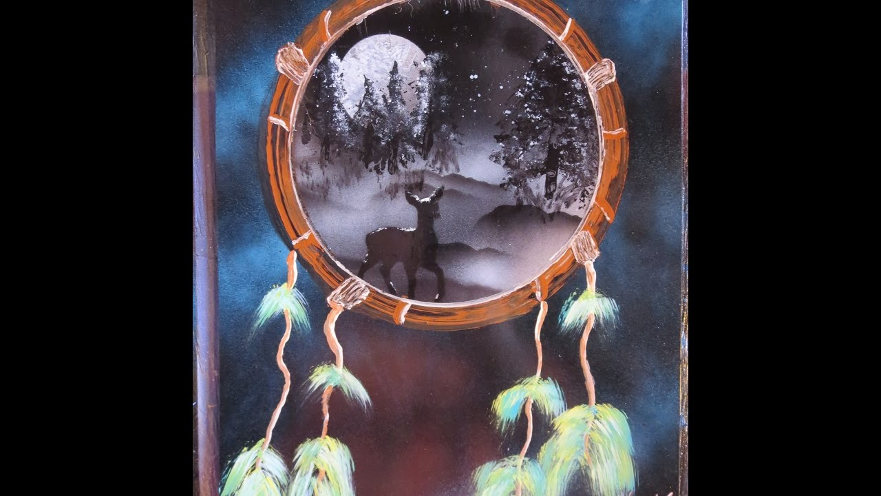 Paint over a failed painting how to spray paint art for Dream catcher spray painting