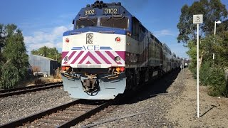 Altamont Corridor Express HD 60fps: ACE Trains #4 & #6 @ Livermore Station (EMD F40PH-2C)