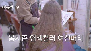 밀본염색 봄시즌! 염색컬러 애쉬그레이로 여신머리 변신