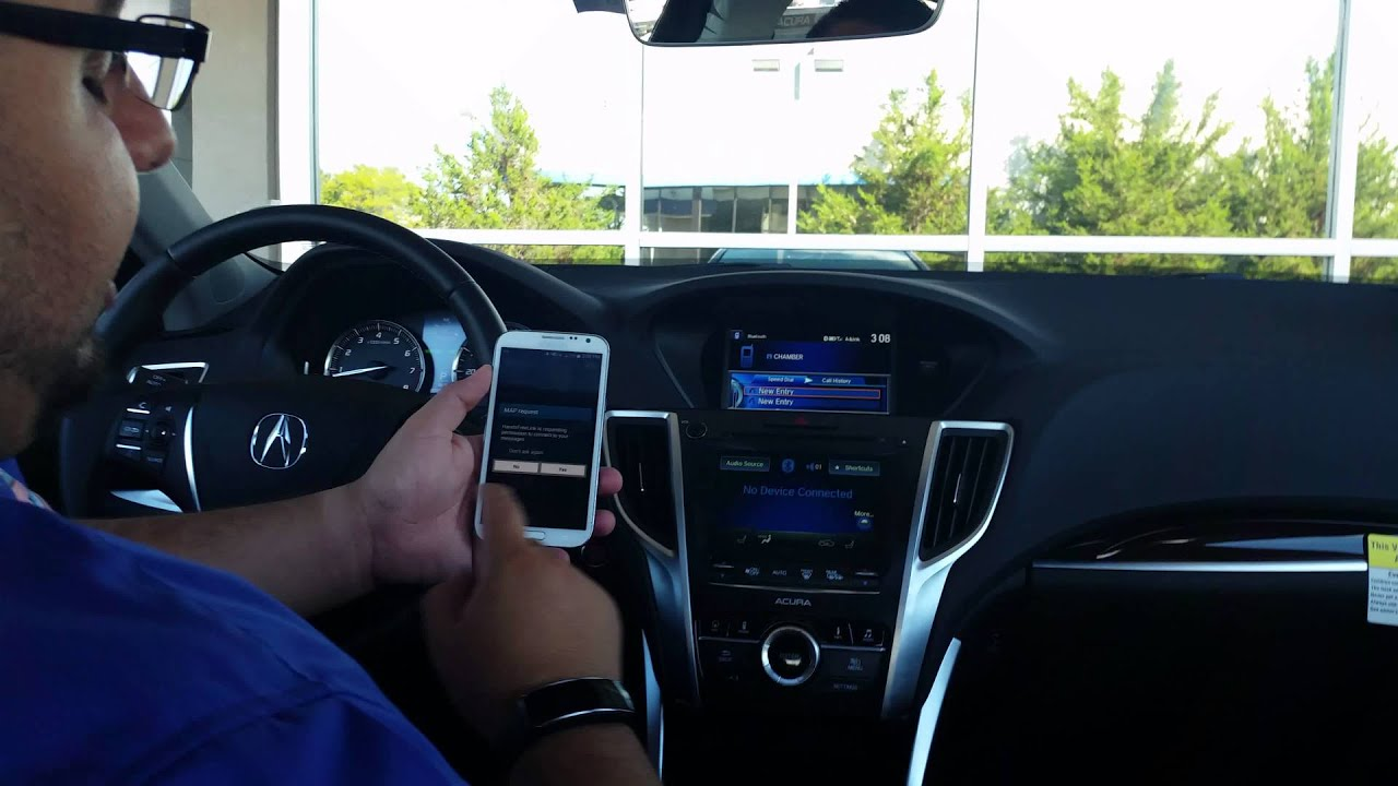 how to set up a bluetooth with acura link 2 0 youtube