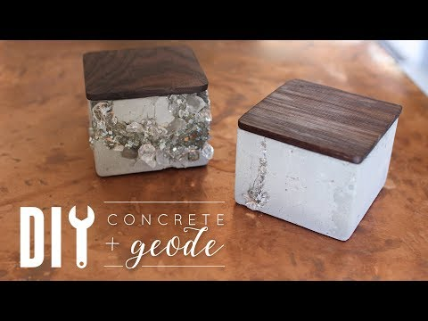 DIY Faux Geode Concrete Containers