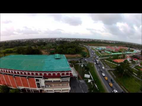 National Culture Center - afternoon traffic, Georgetown Guyana