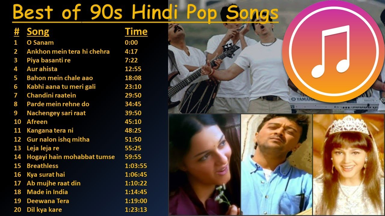 Download Best of 90s Indian Hindi Pop Songs | Superhit 90s Hindi Pop Songs |  All-time Hindi Pop | Jukebox