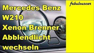 Xenon Brenner Lampe Abblendlicht wechseln | Mercedes Benz W210
