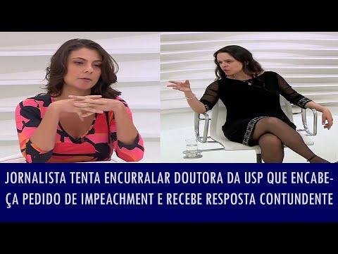 Jornalista tenta encurralar doutora da USP que encabeça pedido de impeachment e recebe resp..