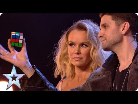 Magic man Maddox WOWS with Rubik's Cube wizardry!   Auditions   BGT 2018