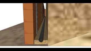 الردم الجدار الاستنادي