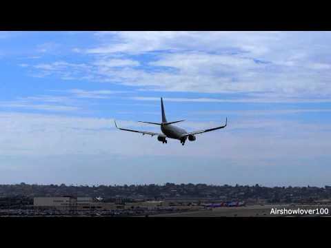 United Airlines Boeing 737-800 'Eco Skies' Landing San Diego