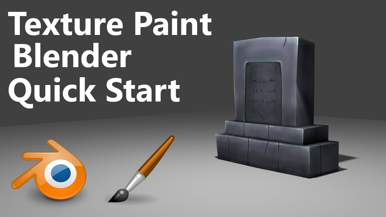 Texture Painting Quick start Blender 3min YouTube