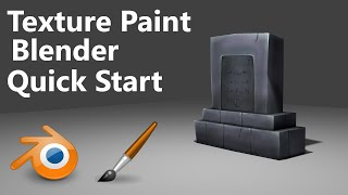 Texture Painting | Quick start | Blender | 3min