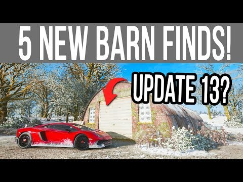 Forza Horizon 4 - All 5 NEW *Secret* Barn Find Locations for FUTURE Updates!