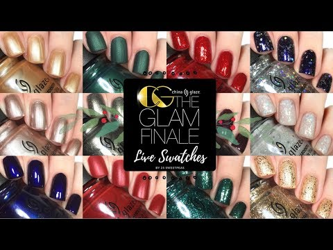 China Glaze Glam Finale | Live Swatches