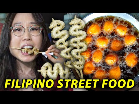 FILIPINO STREET FOOD at Quiapo Market Tour   Manila, Philippines